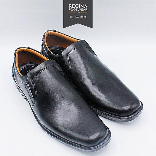 NewJustine - Sepatu Pantofel Kulit Asli Pria OX 31 - Black Size 40/45