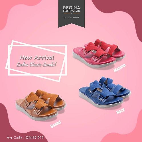 REGINA FOOTWEAR - Ladies Classic Sandal DB187-035 Size 36/41