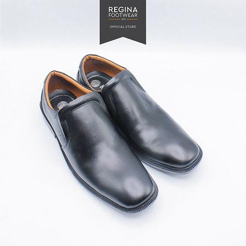 KAIZEN - Sepatu Pantofel Kulit Asli Pria AX 31 - Black Size 40-43