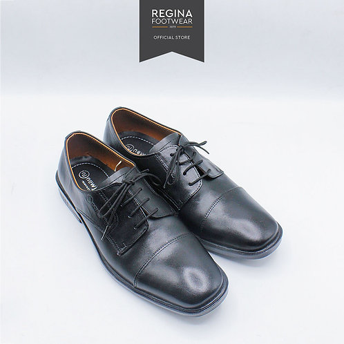 New Justine - Sepatu Pantofel Kulit Asli Pria AX 23 - Black Size 38-42