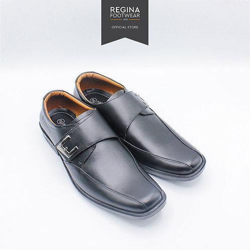 New Justine - Sepatu Pantofel Kulit Asli Pria OX 41 - Black
