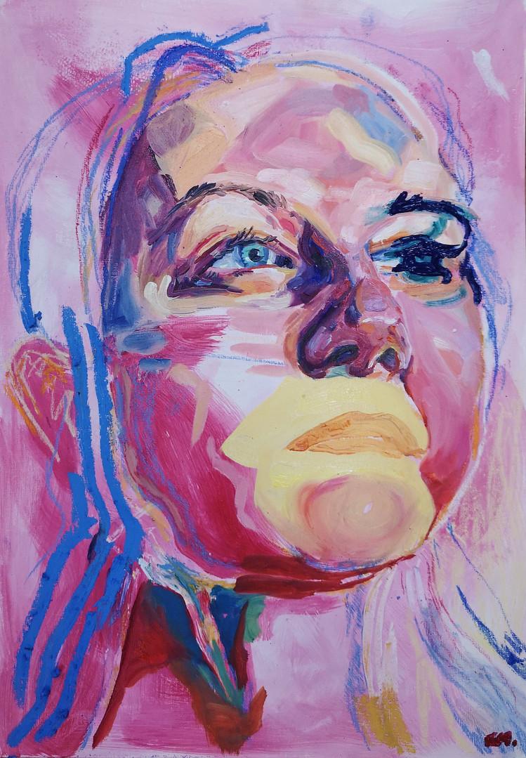 'Crimson Portrait'
