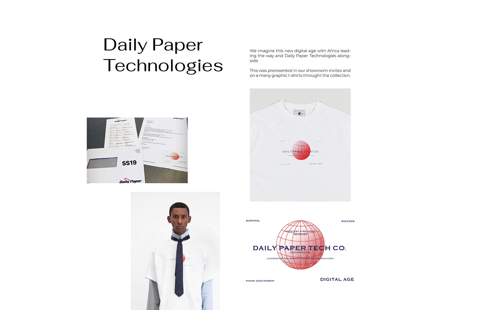 Concept in design SS19 Daily Paper