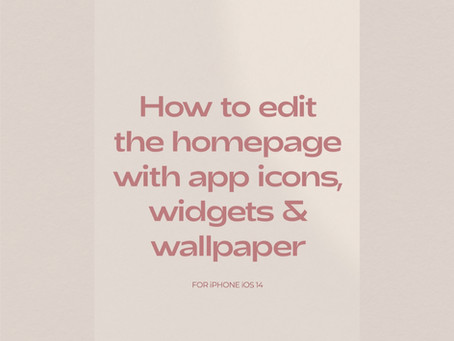App Icon & Widget Image iOS set up guide for homescreen