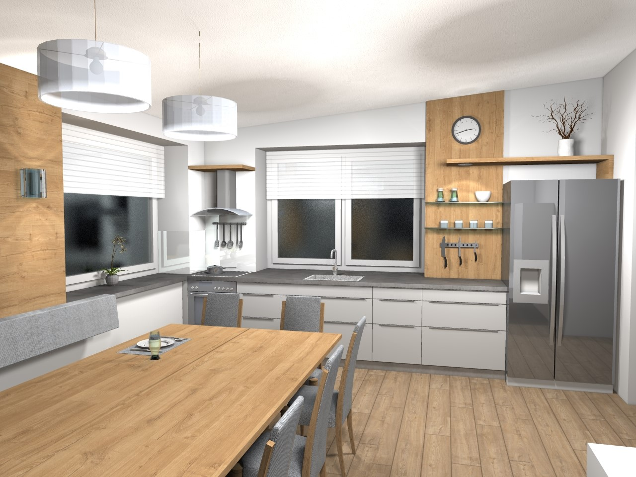 Nebenküche & großer Tisch (2)