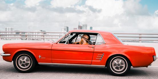 Red Mustang.