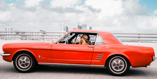 Red Mustang.