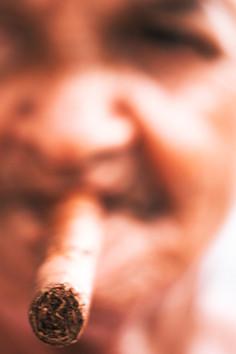 Women with a cigar