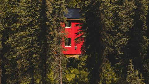 Red cabana.