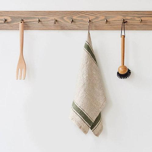 Linen Kitchen Towel - Green Vintage