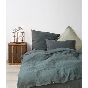 Forest Green linen bed set2.jpeg