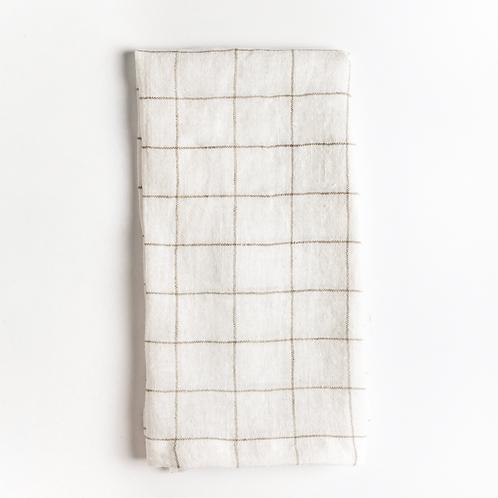 Stone Washed Linen Windowpane Napkins set/2