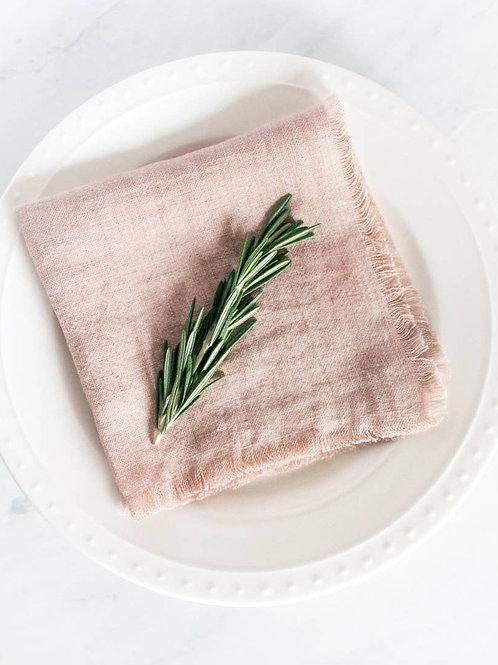 Linen Cocktail Napkin  - Set of 2 - Blush