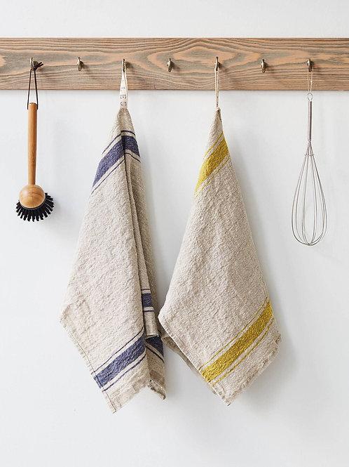 Linen Kitchen Towel - Mustard Vintage