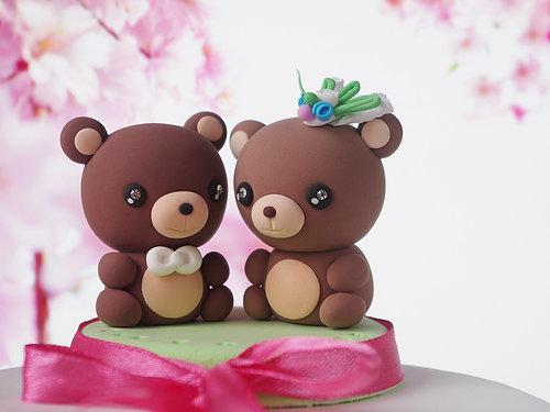 Bears Wedding Cake Topper Kawaii Figurines Centerpiece