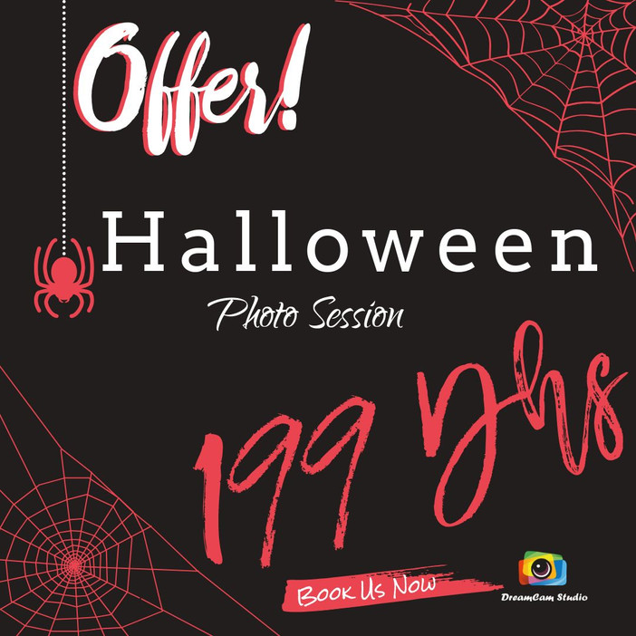Halloween Deal: 199 Dhs Photo session!