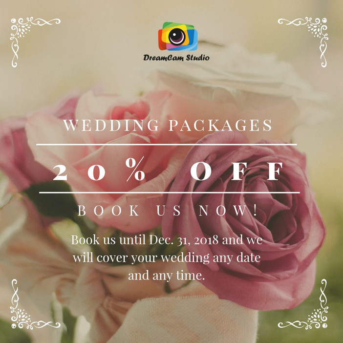 National Day Offer: 20% off Wedding Packages