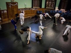 Abolicao Synergy Capoeira training, Longfield Hall, Camberwell, South London 03