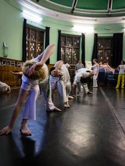 Abolicao Synergy Capoeira training, Longfield Hall, Camberwell, South London 06