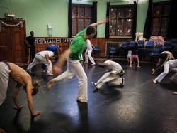 Abolicao Synergy Capoeira training, Longfield Hall, Camberwell, South London 04