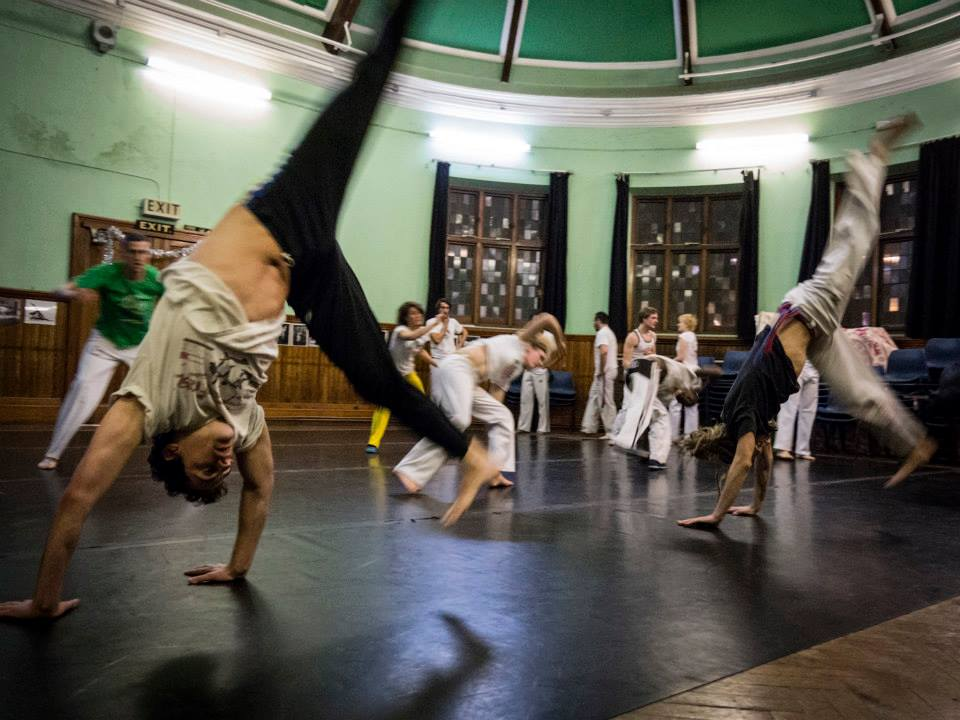 Abolicao Synergy Capoeira training, Longfield Hall, Camberwell, South London 02