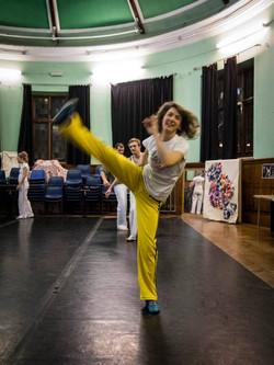 Abolicao Synergy Capoeira training, Longfield Hall, Camberwell, South London 08