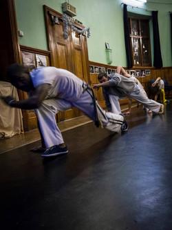 Abolicao Synergy Capoeira training, Longfield Hall, Camberwell, South London 11