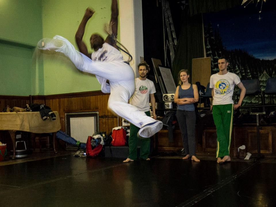 Abolicao Synergy Capoeira training, Longfield Hall, Camberwell, South London 01