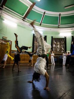 Abolicao Synergy Capoeira training, Longfield Hall, Camberwell, South London 12