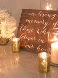 candles and signs