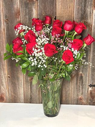24 Roses Arranged