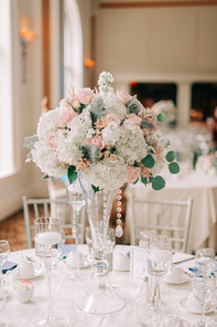 Vase rental and Candle holder by stylish Blooms