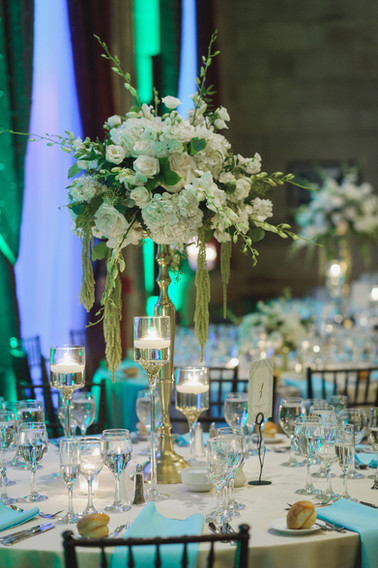 Gold stands and rentals by Stylsih Blooms