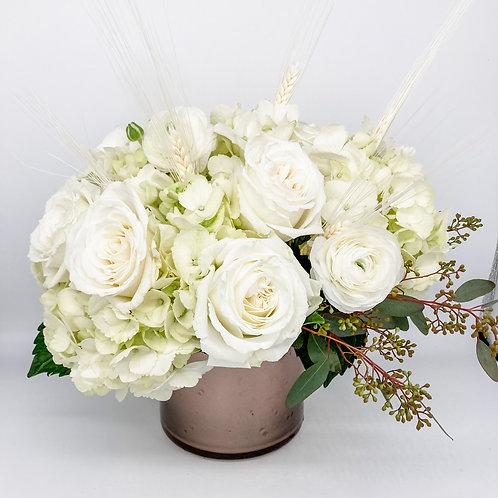 White Roses & Hydrangea
