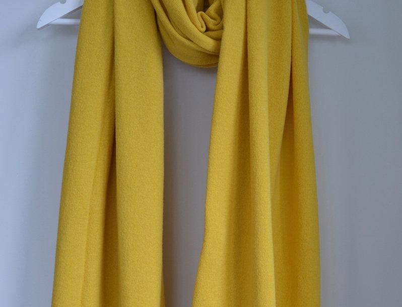 Cashmere Merino Wrap - Yellow