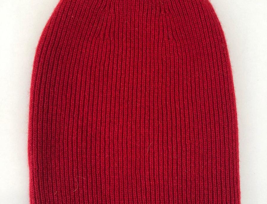 Red Merino Cashmere Beanie