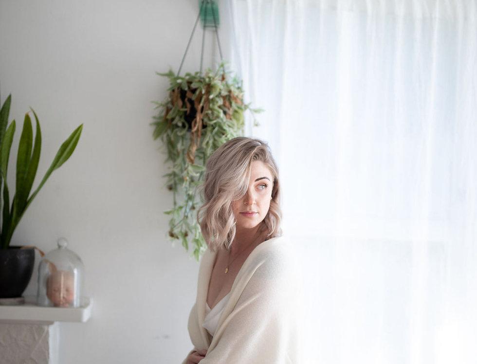 Cashmere Merino Wrap - Soft White