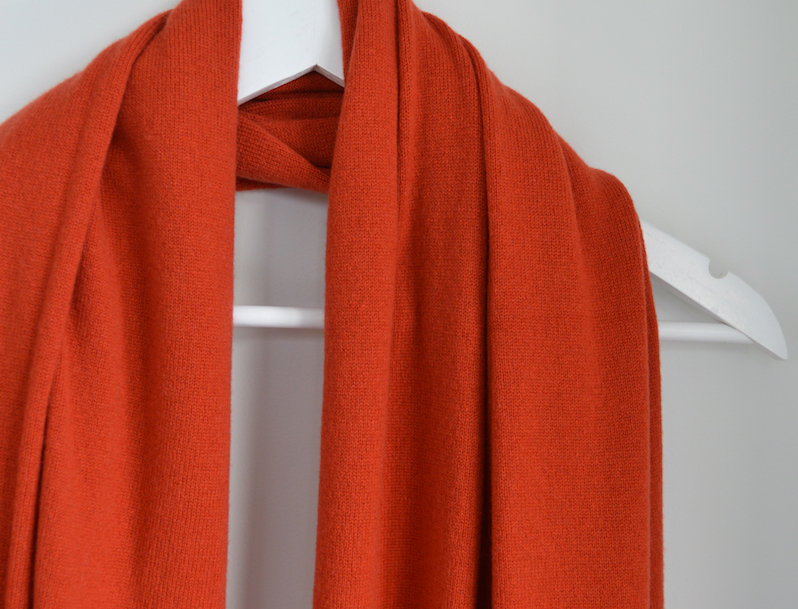 Cashmere Merino Wrap - Burnt Orange