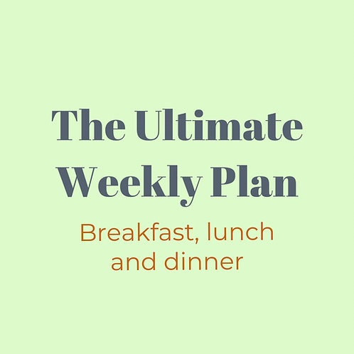 The Ultimate Weekly Plan