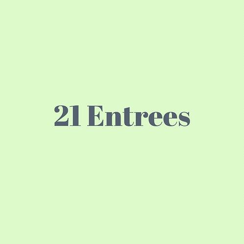 21 entrees ($24 savings)