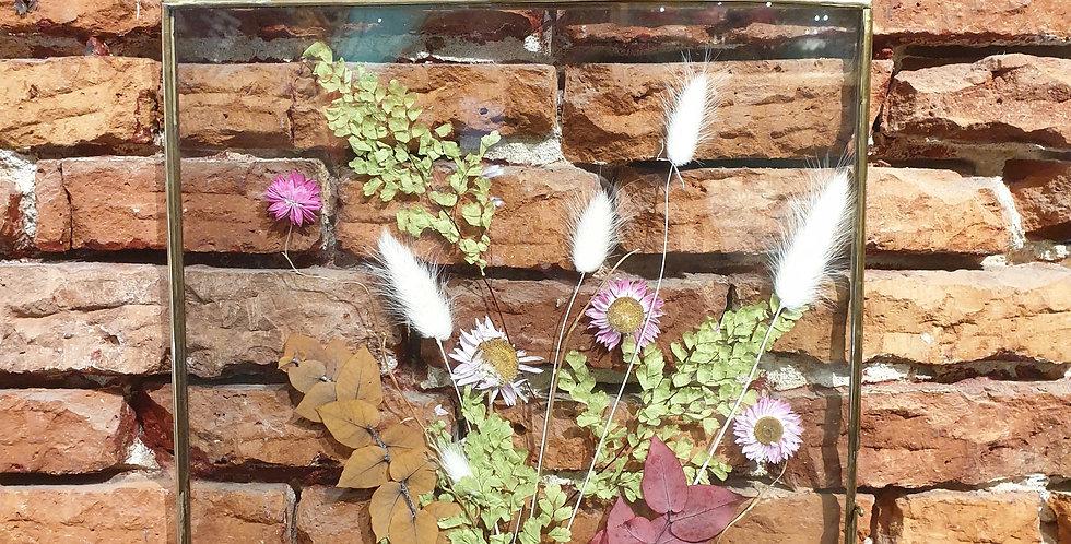Cadre brocante fleuri