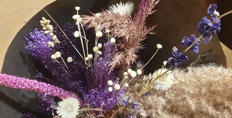 Bouquet de fleurs séchées mauve