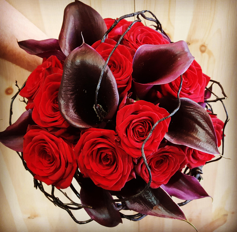 """Bouquet de mariée """"Rouge et Noir"""""""