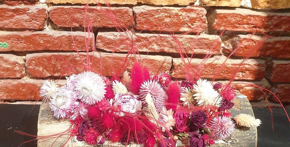 Buche de fleurs séchées