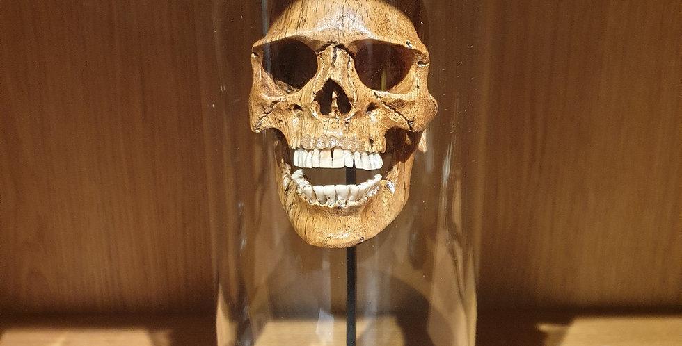 Petite cloche Crâne en bois