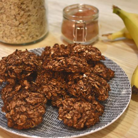 """Recette des """"cookies"""" aux flocons d'avoine"""