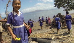 sailing charter fiji, beach clean-up