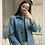 Veste structurée / tailleur vintage  bleu et grise