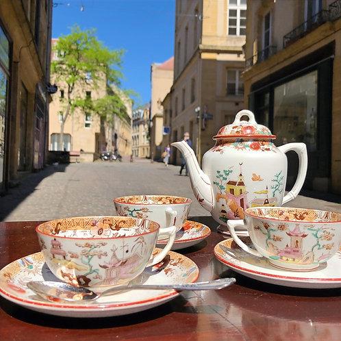 Service à thé Sarreguemines
