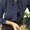Chemisier vintage du Japon à col cravate